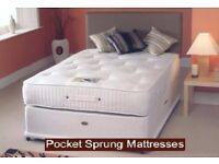 💖💥🔥💥UK BEST SELLING BRAND❤New 4FT6/4FT or 5FT Divan Bed w 10 inch Ambassador Orthopedic Mattress