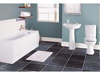 Complete Bathroom Suite white