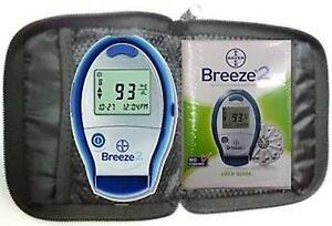 Bayer Breeze 2 Blood Glucose Meter Monitor with Carry Case