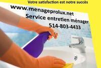 Service entretien ménager résidentiel et commercial