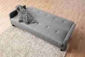 Hometrends Grey Futon Sofa Bed !! BRAND NEW IN THE BOX !!!