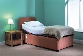 ADJUSTABLE ELECTRIC BED, Hi-Lo Carers Profiling Bed, 3ft x 6'10''
