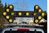 services patrouille routière , camion flèche , hors normes