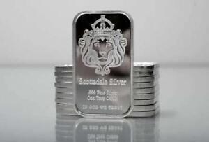 *Spécial* 1 oz Lingotin Argent Pur Scottsdale Fine Silver Bar