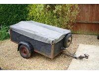 Car trailer 5 x 3 with galvanised metal floor cover