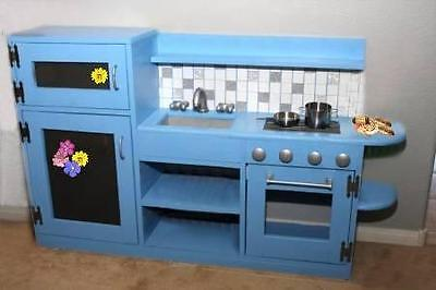 Easy Build One-piece Play Kitchen Unit - Fridge, Sink & Stove - DIY Plans on Rummage