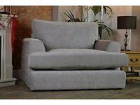 Next Stratus 3 Snuggle Chair in Mid French Grey Fabric