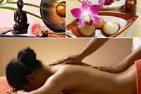 Massage Relaxation Thérapeutique 1h15 $55 ** de 9h am a 19h30 **