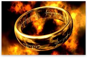LOTR - Lord of the Rings ONE Ring + 925 Sterling Silver Chain