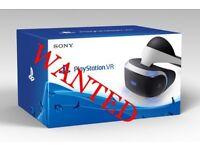 Wanted Playstation VR camera set