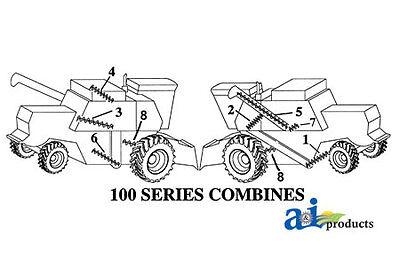 John Deere Parts Auger Lower Tailing Ah75836 6600 6601 6602