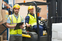 Forklift Training Mississauga + Licence + Jobs $14-$20/hr