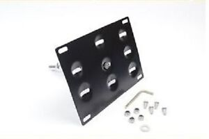 Tow hook license plate holder mount relocator Audi