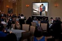 Projectors, Screens & Speakers for Weddings & Receptions