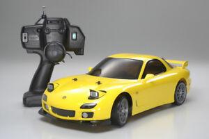 Tamiya #57766 TT01D 1/10 scale Yellow Mazda RX-7 XB Expert Built