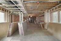 All framing insulation drywall mud and tape and paint