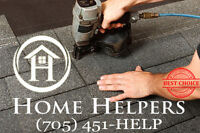Worry free professional roofing service. Call Home Helpers Today