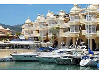 holiday houseboat in Benalmadena Marina, Costa del Sol. Nr malaga.