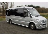 Cheap Minibus / Taxi or Coach Hire With Driver Service(Airport Transfers,Nights Out etc) - Save 25%