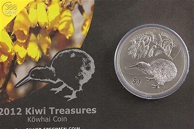 Neuseeland Kiwi Treasures Kowhai Flower 1 Unze oz Silber 2012 BU Blister online kaufen