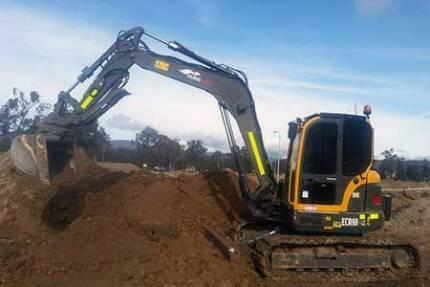 8 Tonne Volvo Excavator Dry Hire