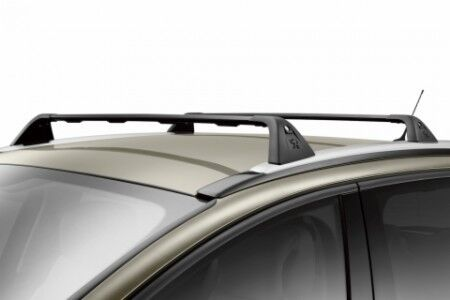 PEUGEOT 3008 LOCKABLE BLACK CROSS BARS ROOF BAR RACK 2010 ONWARDS 75 KG CAPACITY