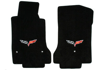 C6 Corvette Early-2007 Lloyd Velourtex Front Floor Mats w/Snap Caps-Logo Only for sale  Shipping to Canada