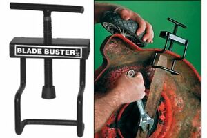Blade buster for lawn mower
