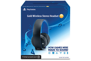 playstation 4 wireless gold headset in box $50