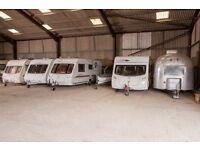 Under cover caravan, campervan, motorhome, boat trailer etc. storage near Morpeth, Northumberland