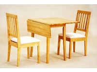Small extendable oak table and chairs