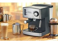 Cooks Professional Espresso Machine With 15-bar Pressure & Removable Water Tank
