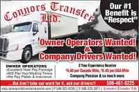Owner Operators & Company Drivers Required