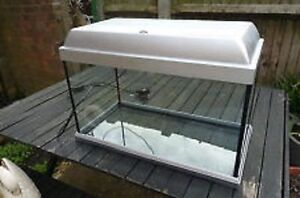 23 Gallon Fish Tank, Stand, Gravel, Lighted Canopy, Filters Pump