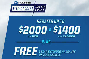 J & J SPORTS  -  POLARIS SPRING SALES EVENT ON NOW