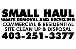 Calgary Small Haul Waste Removal and Recycling CALL 403-251-3377