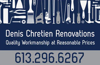 Denis Chretien Renovations - Welding and much more