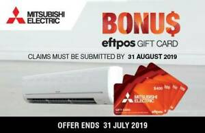 GET TOASTY WARM WITH MITSUBISHI ELECTRIC'S CASH BACK DEALS Caboolture Caboolture Area Preview
