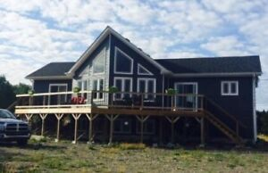 Attractive Oceanfront A Frame House For Sale