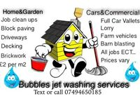 Bubbles jet washing services Commercial vehicles, driveways Tractors HGV, Farm Vehicle, Fences, cars