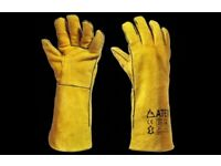CASE OF 60 PAIRS HIGH GRADE KEVLAR STITCHED WELDERS GLOVES UOP TO 4 WEEK APPROX USAGE PER PAIR