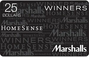 Winners Home Sense Marshalls Gift Card for sell $58.81 off