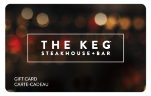 Keg Gift Card For Sell $25.00 off Total value $300
