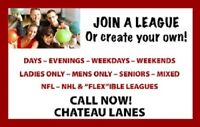 JOIN A BOWLING LEAGUE AT CHATEAU LANES