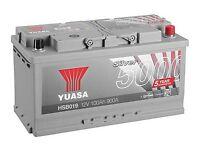 YUASA 12 volt battery