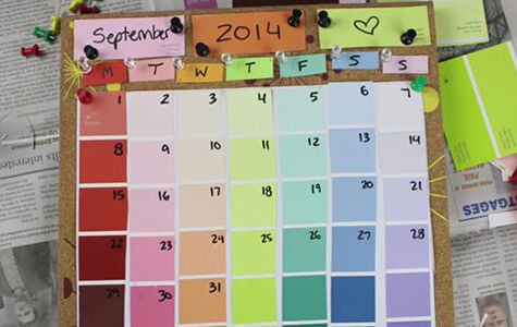 Back to School DIY: Easy Book Cover and Colorful Calendar | eBay