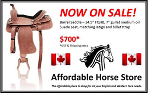"NEW 14.5"" Barrel Saddle"