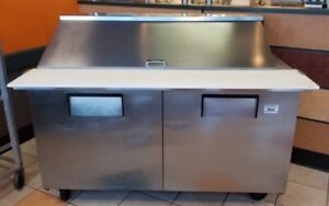 Make table, prep table for fast food restaurant equipment
