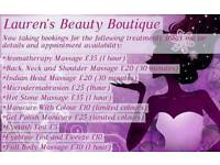 Beauty treatments from £5