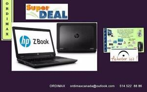 ***HP  ZBOOK Workstation 15 Laptop Professionnel Intel i7 Quad Core(4ieme Gen) Video Graphics Nvidia Quadro +Video Intel